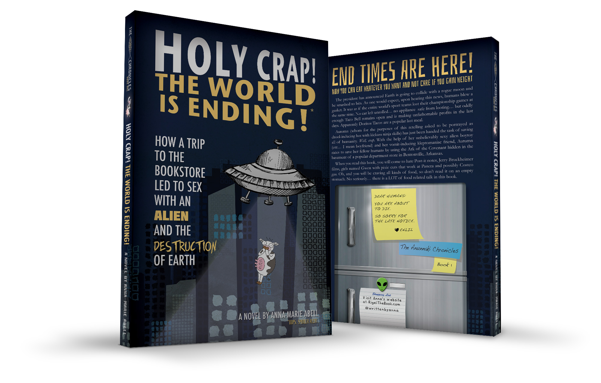 Holy Crap! The World is Ending - Book Mockup - Written By Anna