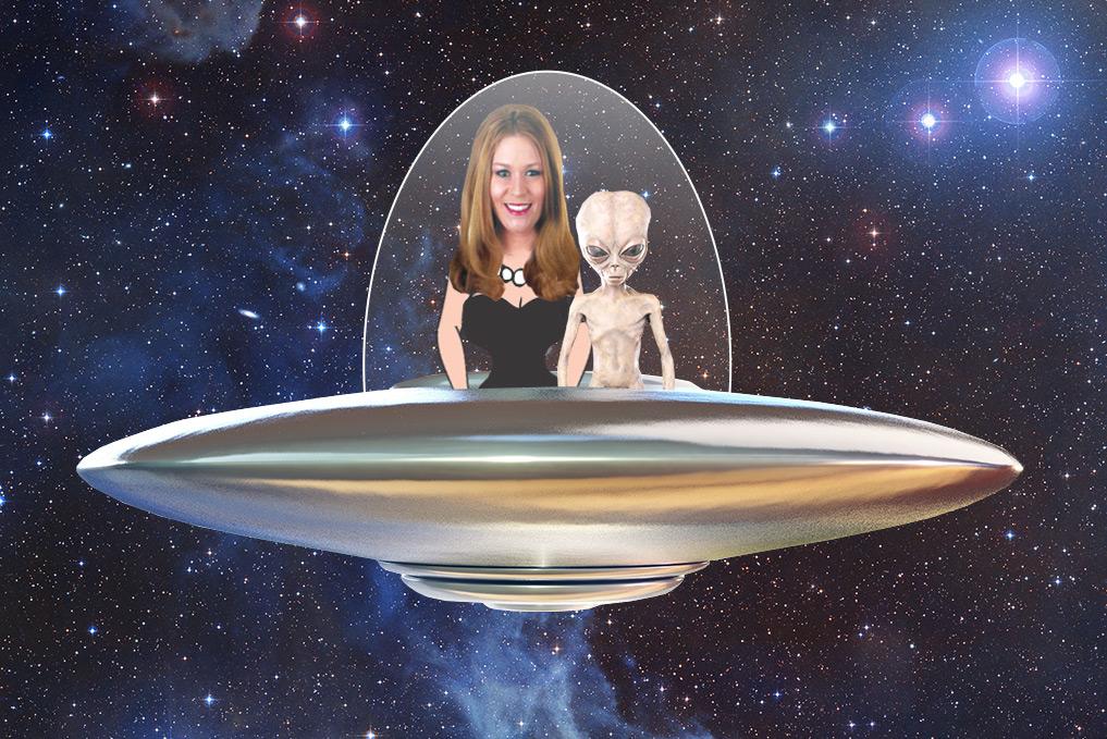 Anna-Marie Abell on spaceship