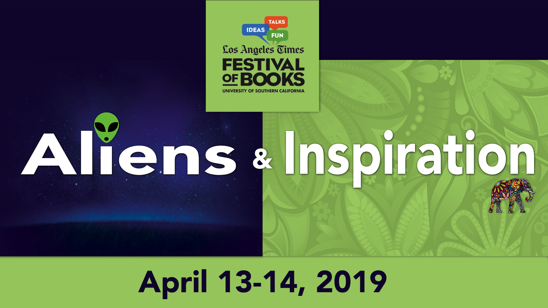 Los Angeles Times Festival of Books April 13-14, 2019